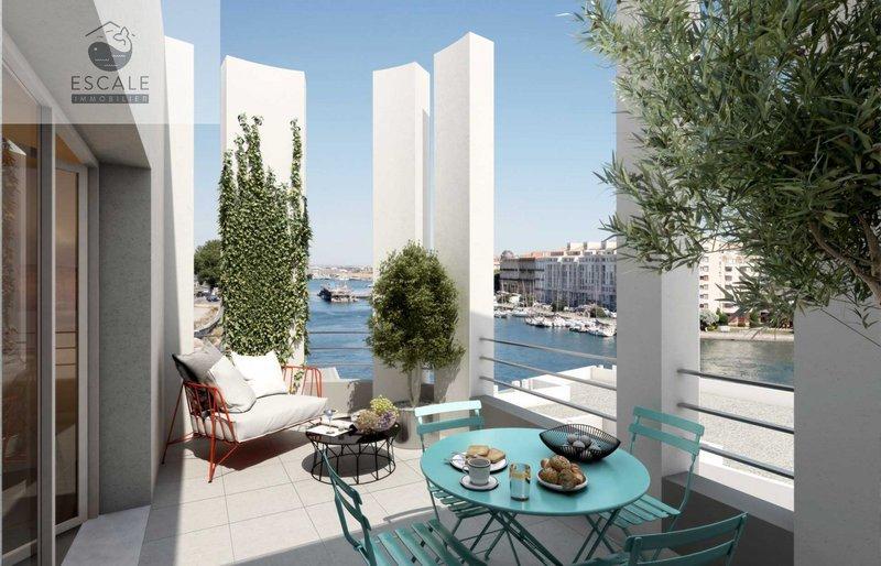 appartement terrasse tropezienne sete immojojo. Black Bedroom Furniture Sets. Home Design Ideas