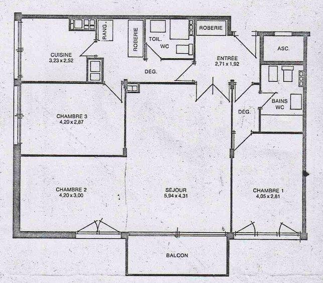Appartement, 87 m² L'éta…