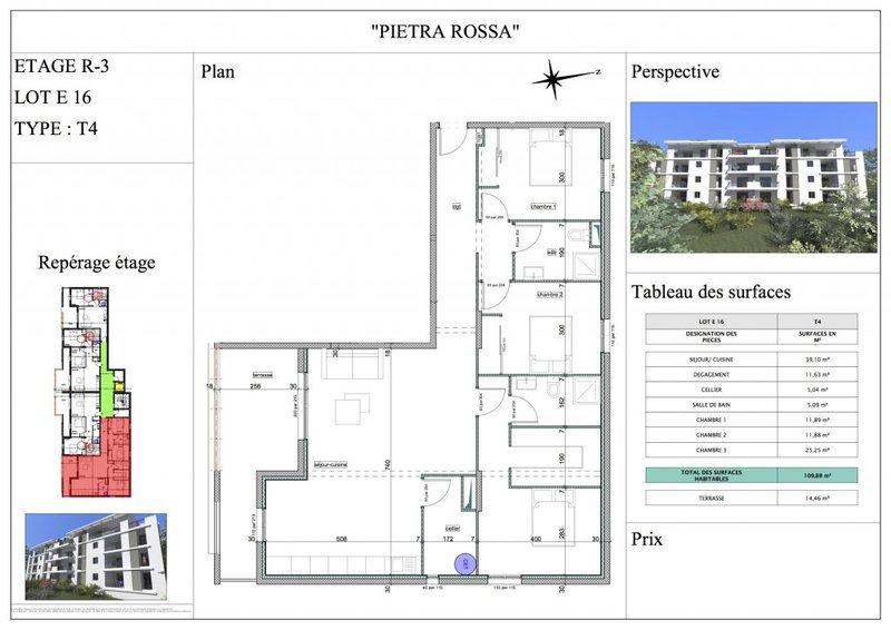 Appartement, 110 m² T4 de…