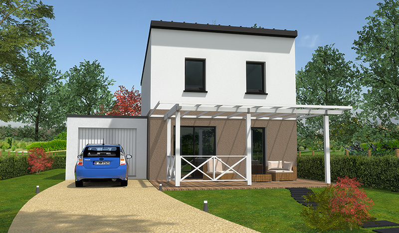 maison contemporaine bretagne piscine immojojo. Black Bedroom Furniture Sets. Home Design Ideas