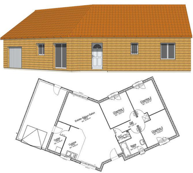 Maison neuve, 83 m² A 5 m…