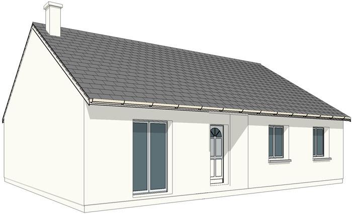 Maison neuve, 90 m² Sur u…